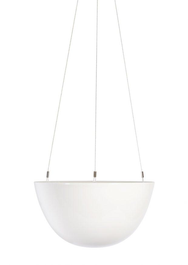 White Hanging Planter Medium