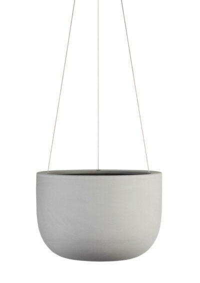 Raw Earth Hanging Planter-Small Siltstone Grey
