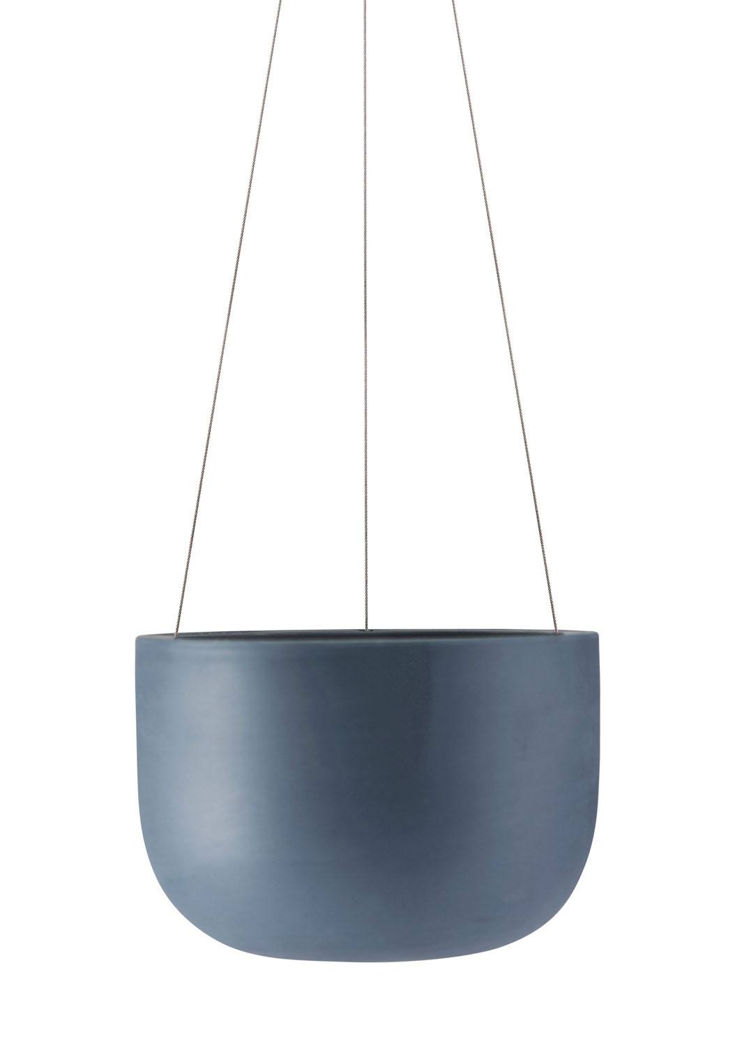 Raw Earth Hanging Planter Slate Blue