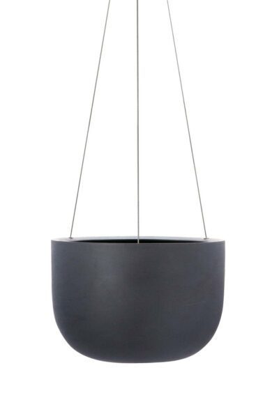 Raw Earth Hanging Planter Charcoal