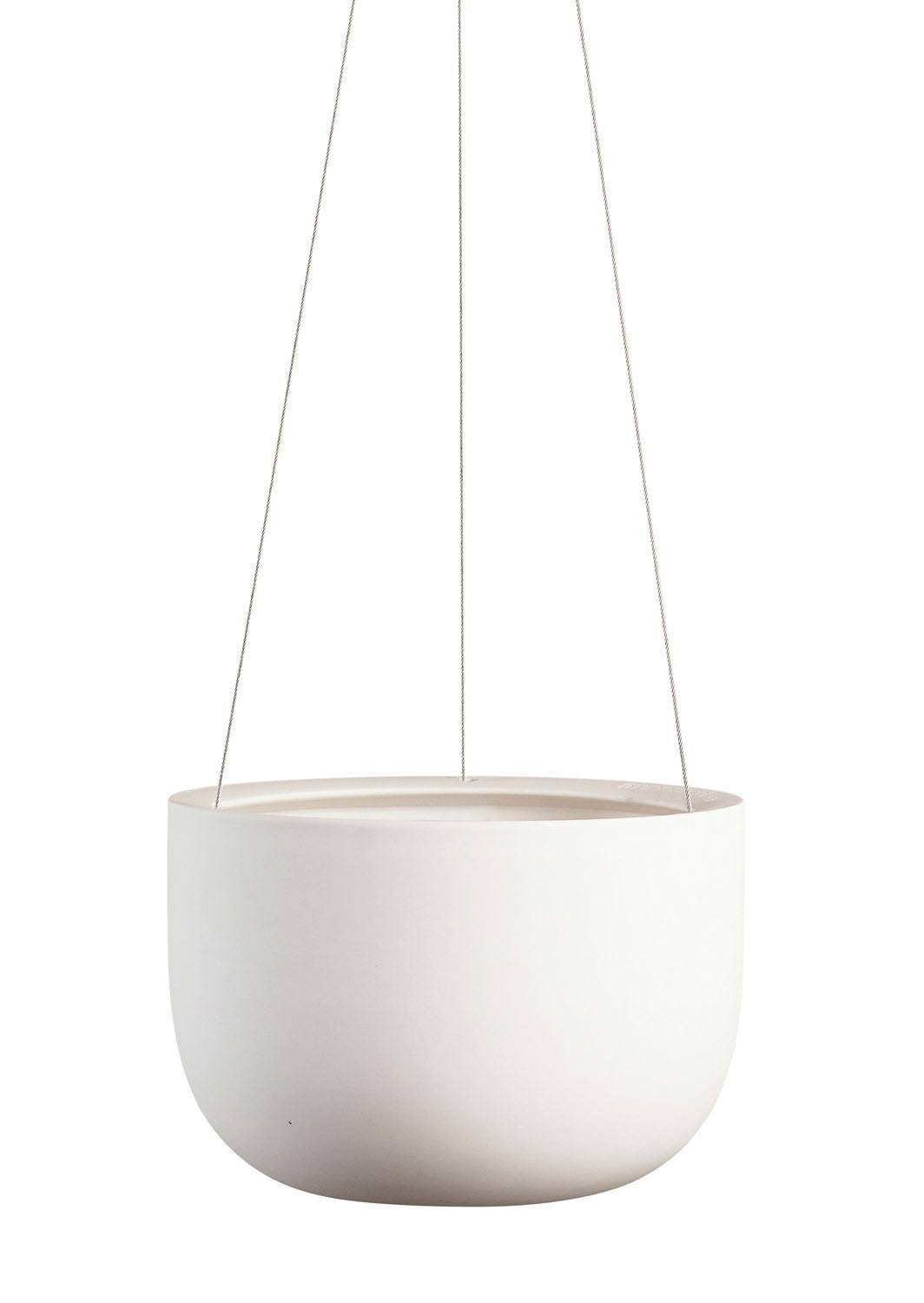 Raw Earth Hanging Planter Chalk White