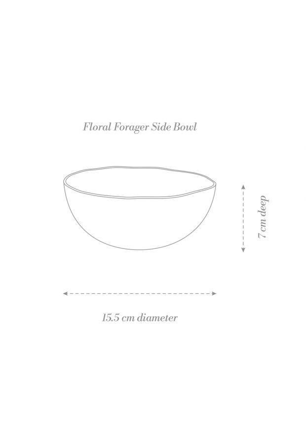 Floral Forager Side Bowl Product Diagram