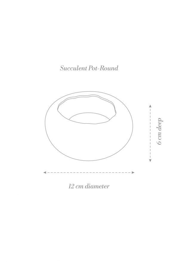 Succulent Pot Round Product Diagram