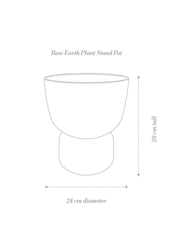 Raw Earth Plant Stand Pot Product Diagram