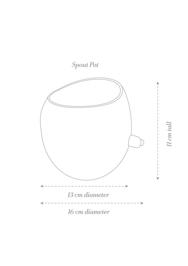 Spouted Plant Pot Product Diagram