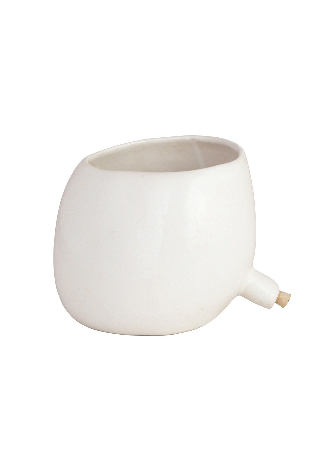 Spouted Plant Pot White_1