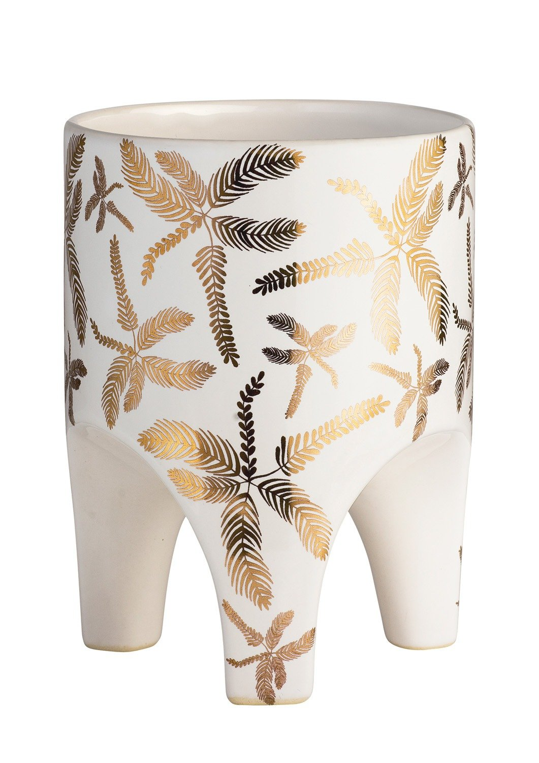 Angus & Celeste Arched Leg Planter Golden Tropical