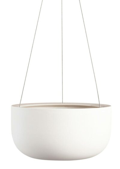 Raw Earth Hanging Planter Large Chalk White