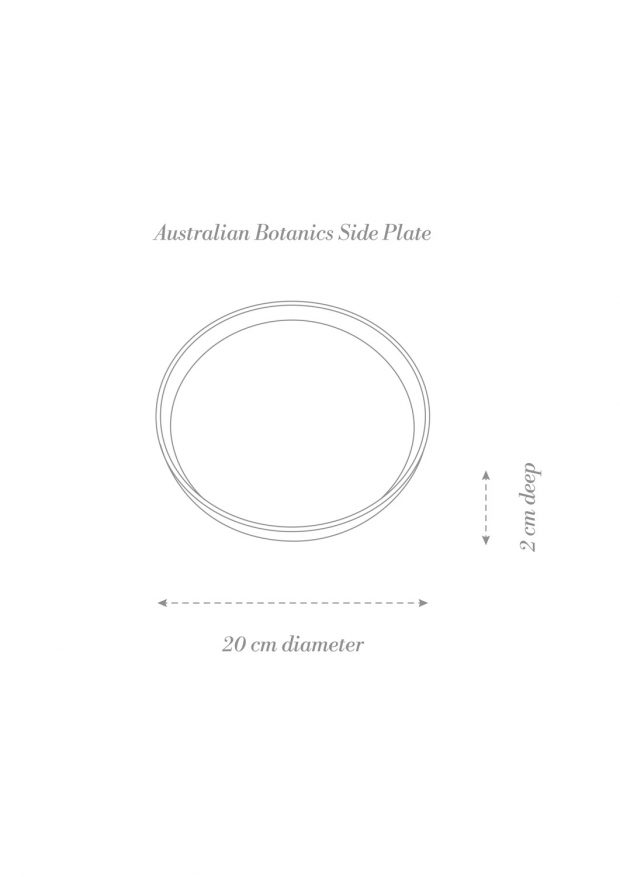 Australian Botanics Side Plate Product Diagram