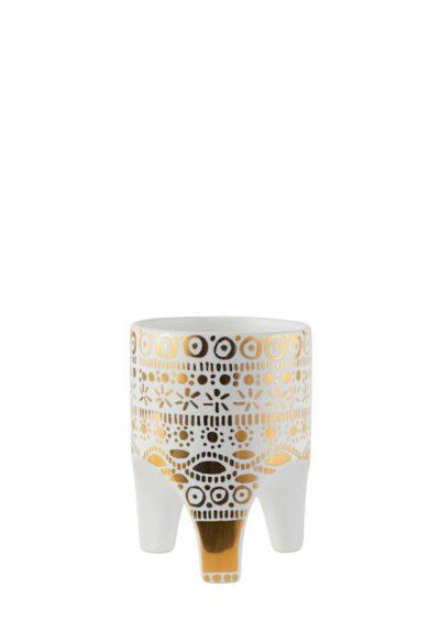 Arched Leg Planter Gold Crown