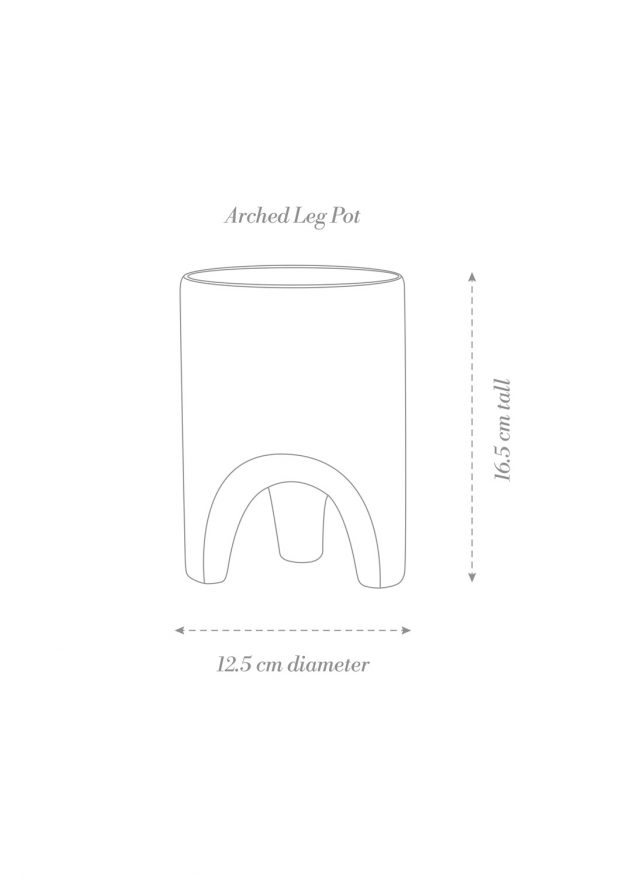 Arched Leg Planter Product Diagram