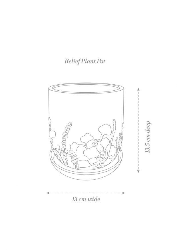 Relief Plant Pot Product Diagram