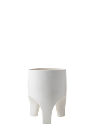 Arched Leg Planter Small White