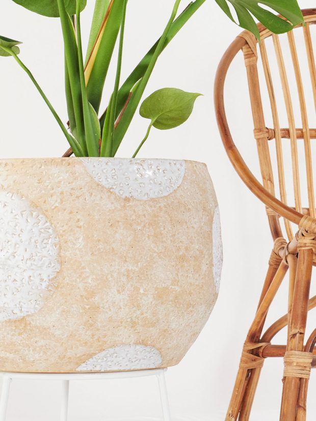 Angus & Celeste Hand-thrown Boulder Plant Stand Pots