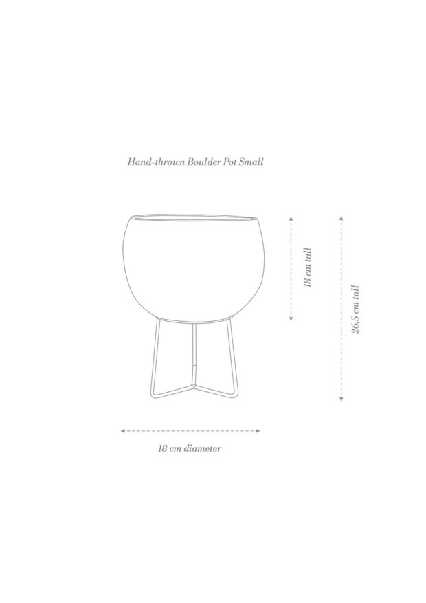 Hand-thrown Boulder Pot Small Product Diagram