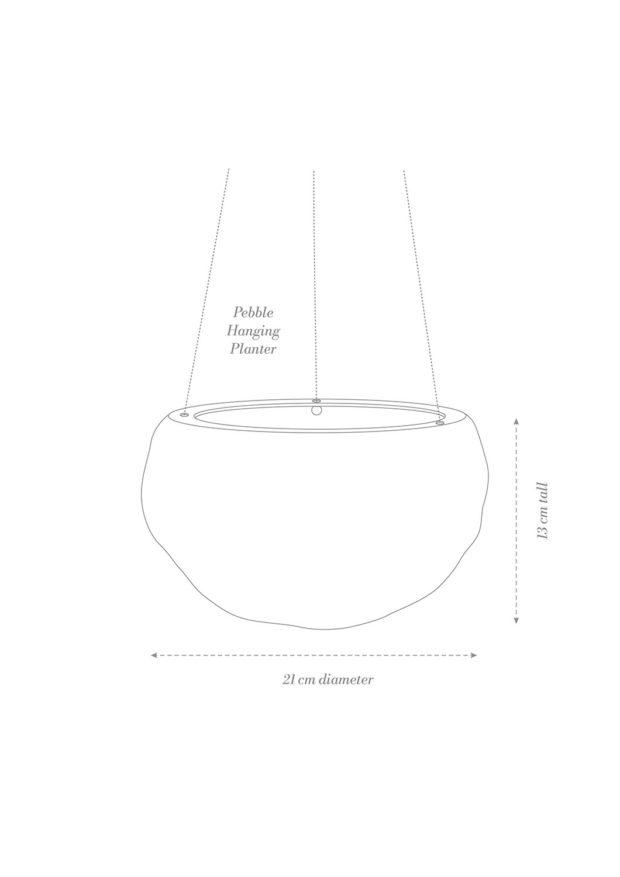 Decorative Pebble Hanging Planter Product Diagram