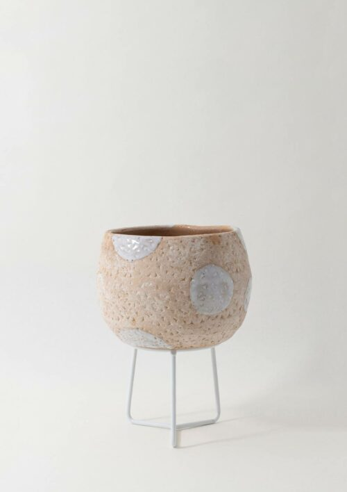 Hand-Thrown Boulder Pot - Small, Brown