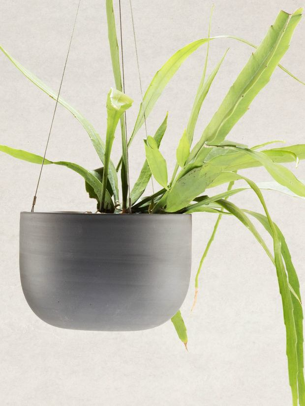 Angus & Celeste Raw Earth Hanging Planter Charcoal