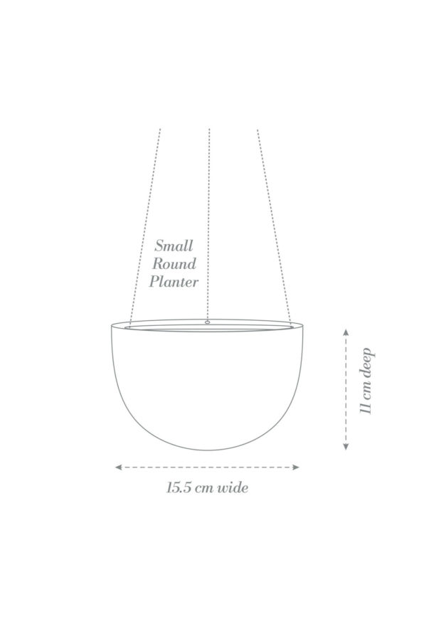 Round Hanging Planter Small Product Diagram