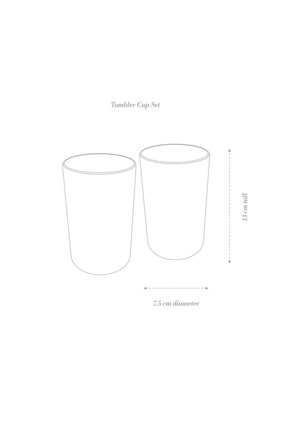 Tumbler Cup Set Product Diagram