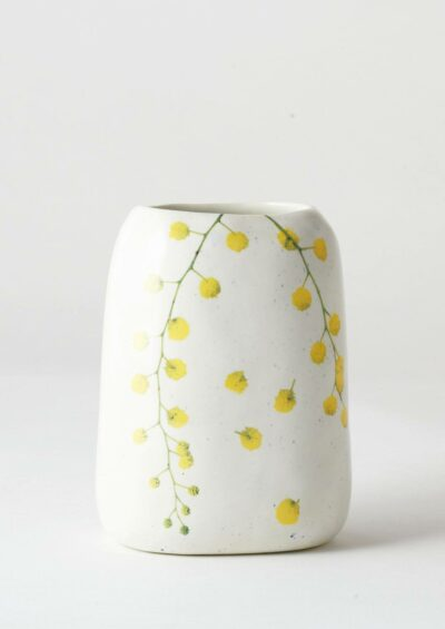 Pebble Vase Wattle Sprigs