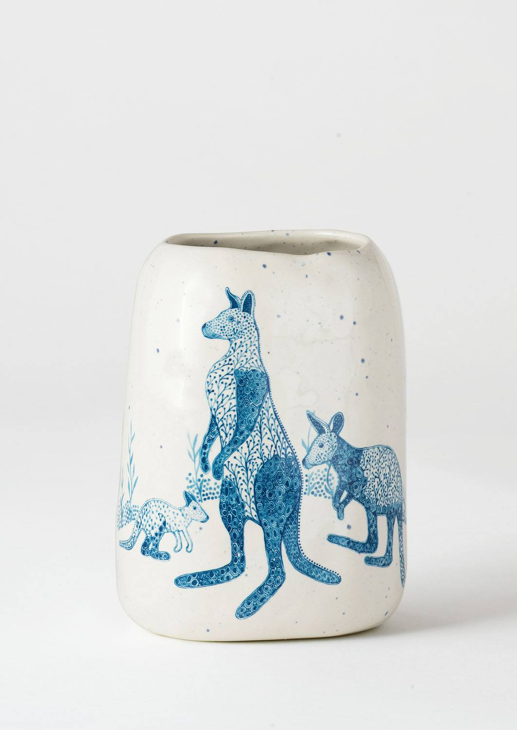Pebble Vase Blue Roos