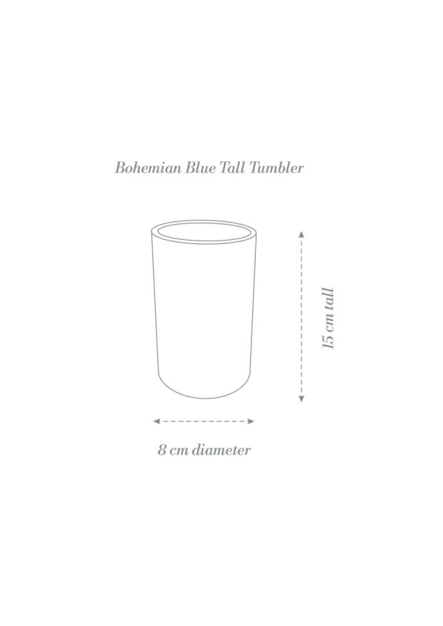 Bohemian Blue Tumbler Cup Product Diagram