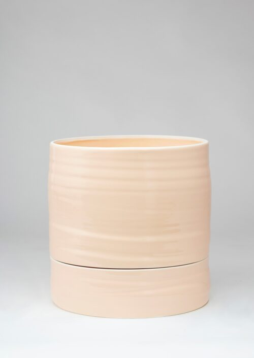 Self Watering Plant Pot - Tall, Coral