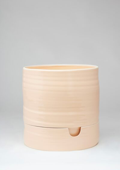 Angus & Celeste Self Watering Plant Pot Tall Burnt Coral