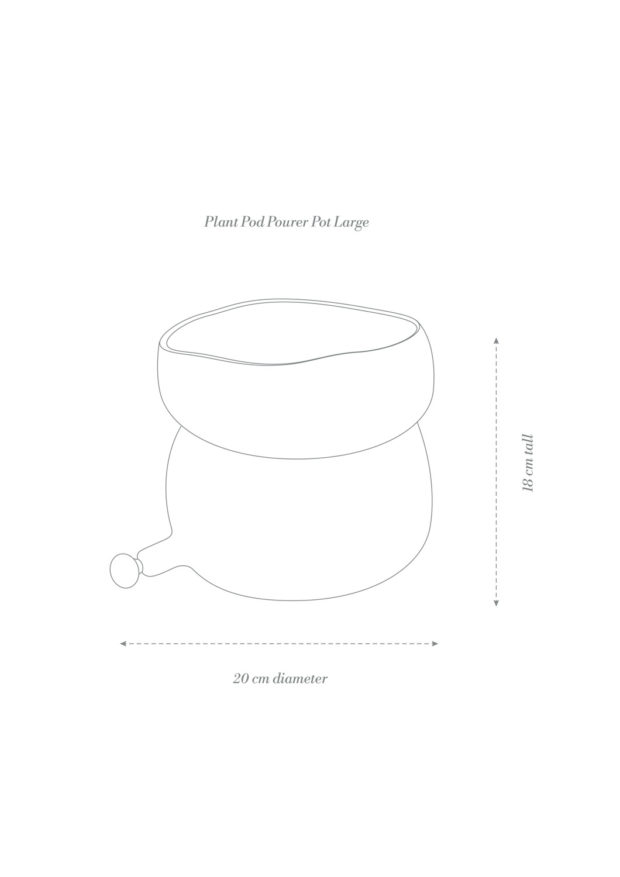 Plant Pod Pourer Pot Large Product Diagram