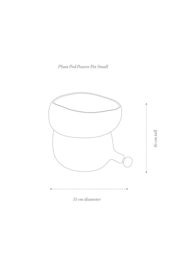 Plant Pod Pourer Pot Small Product Diagram