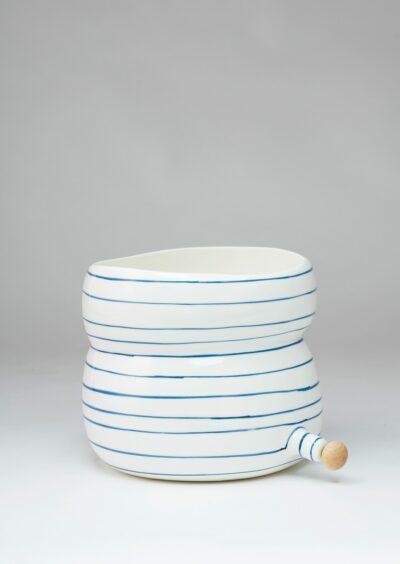 Angus & Celeste Plant Pod Pourer Pot Blue Lines Large