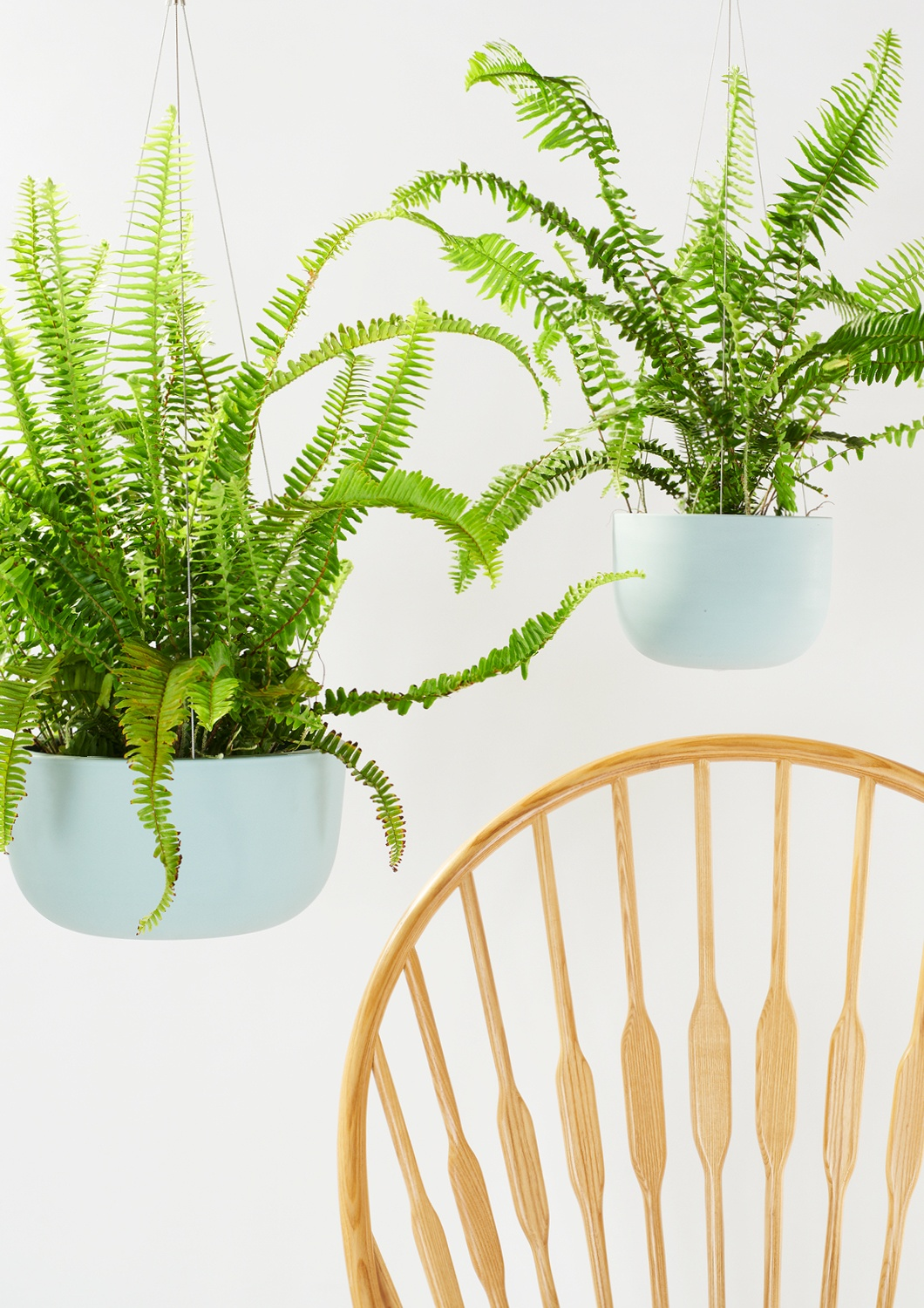 Angus & Celeste Raw Earth Hanging Planters Shale Green