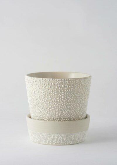 Angus & Celeste White Water Bead Planter Pot
