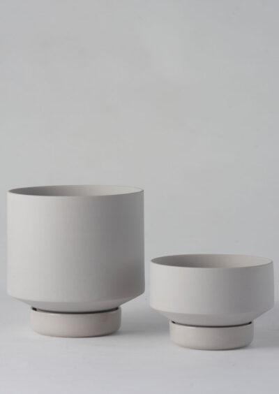 Angus & Celeste Collectors Gro Pot Light Grey Set