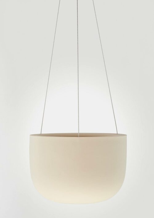 Raw Earth Hanging Planter - Clay, Mid