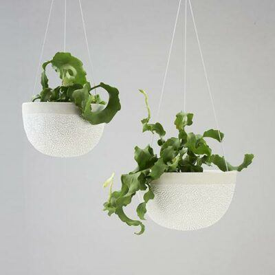 White-Water Bead Hanging Planters
