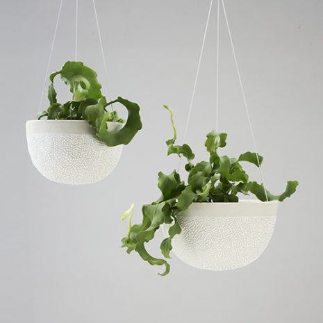 Angus & Celeste White Water Series Hanging Planters Tile