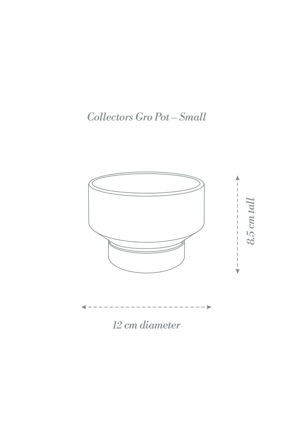 Angus & Celeste Collectors Gro Pot Small Product Diagram