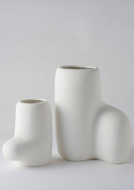 Angus & Celeste Artform Vases White Set