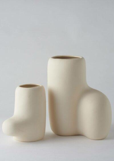 Angus & Celeste Artform Vases Cream Set