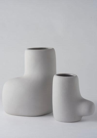 Angus & Celeste Artform Vases Grey Set