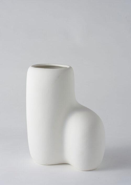 Art Form Vase - White, Large