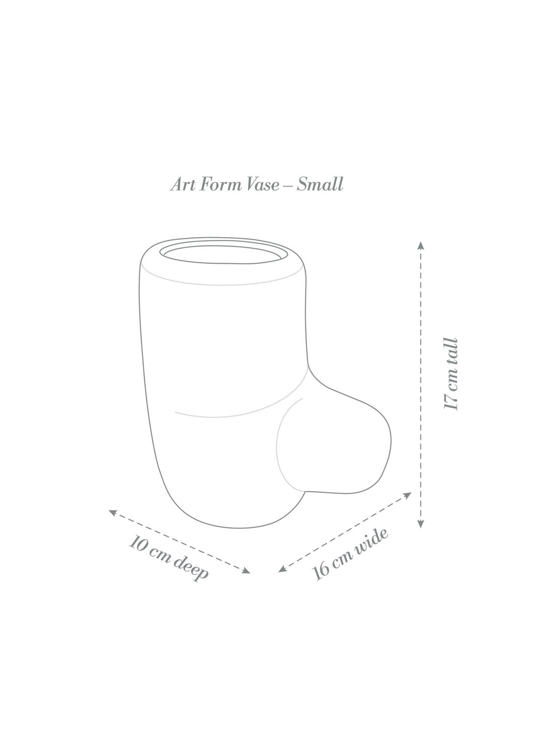 Angus & Celeste Art Form Vases Small Product Diagram