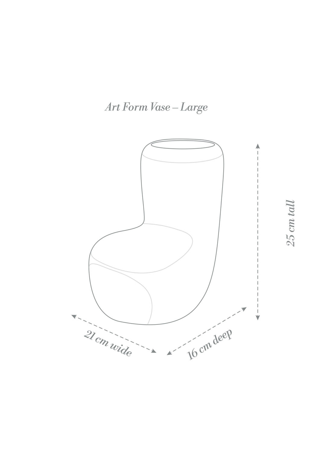 Angus & Celeste Art Form Vases Large Product Diagram