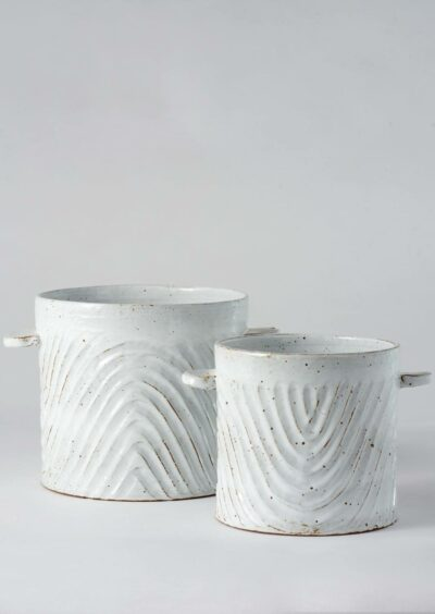 Angus & Celeste Milk Wash Artisan Planter Wave Set