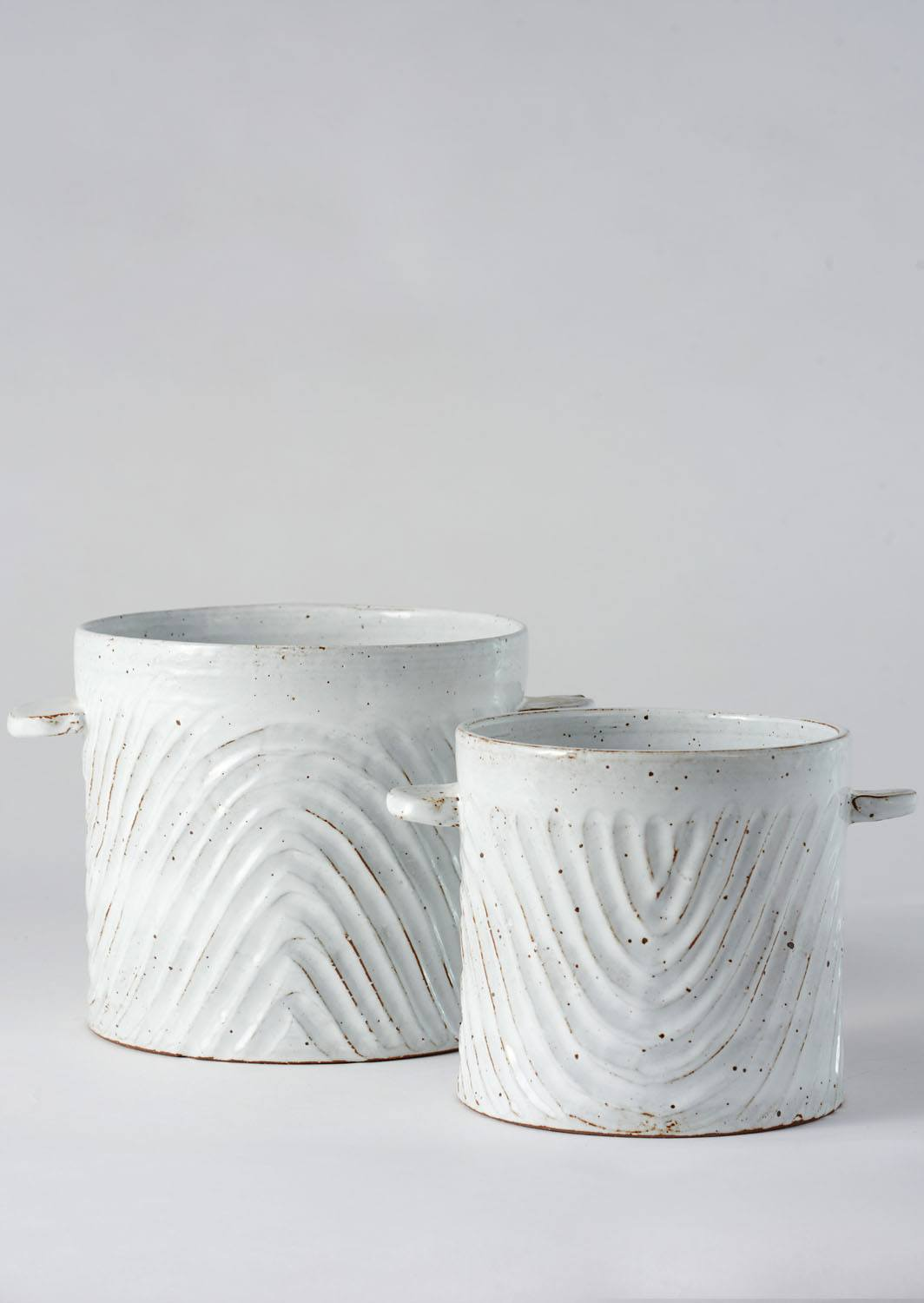 Angus & Celeste Milk Wash Artisan Planter Wave Set
