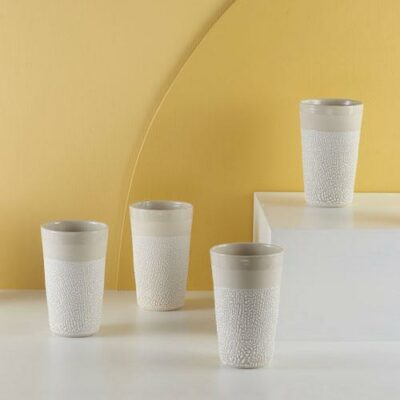 White-Water Bead Tumblers