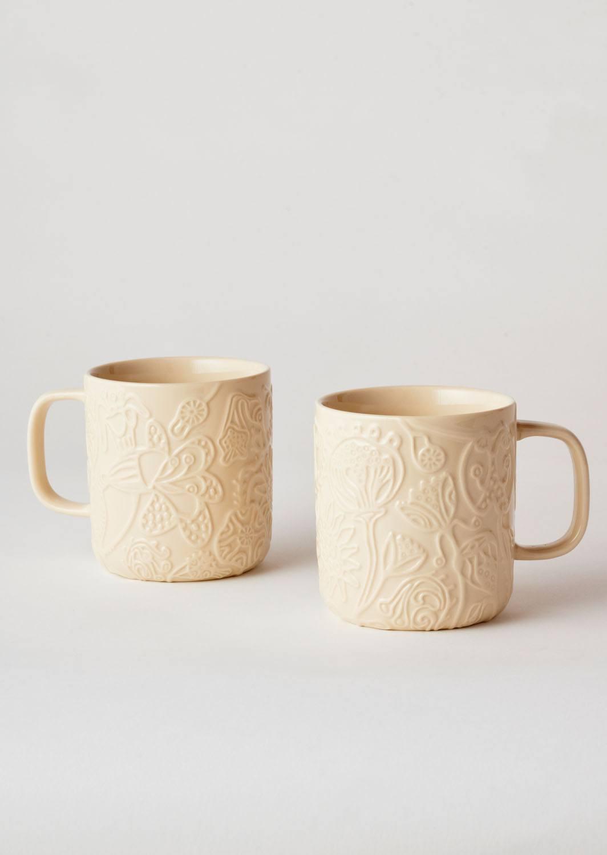 Angus & Celeste Imaginary Botanical Mugs Clay Pair