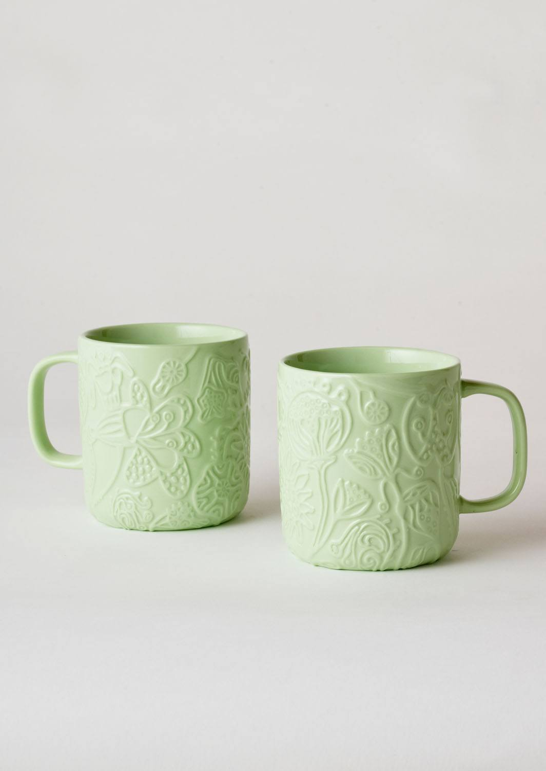 Angus & Celeste Imaginary Botanical Mugs Green Pair